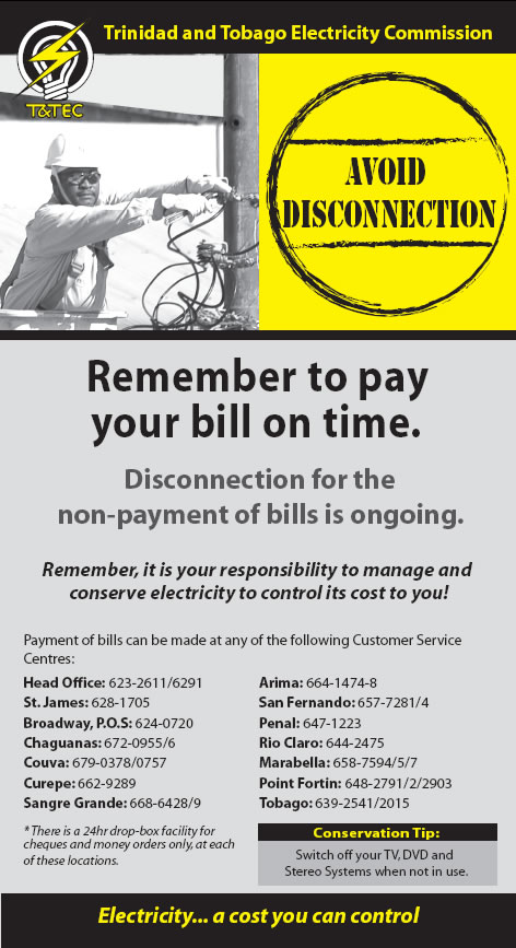 Avoid Disconnection Trinidad And Tobago Electricity