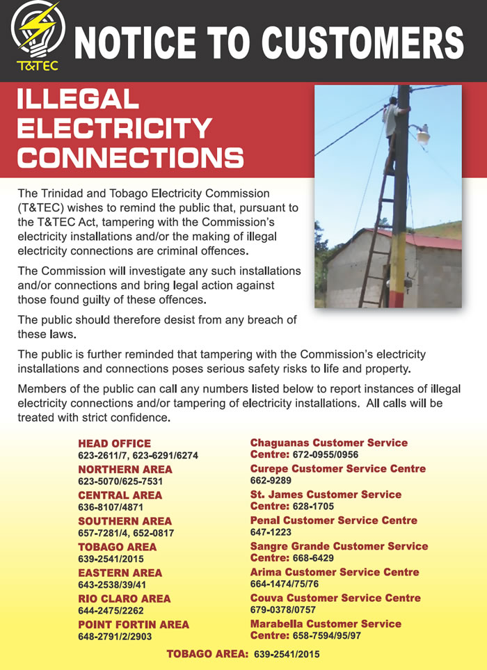 Illegal Connections Trinidad And Tobago Electricity