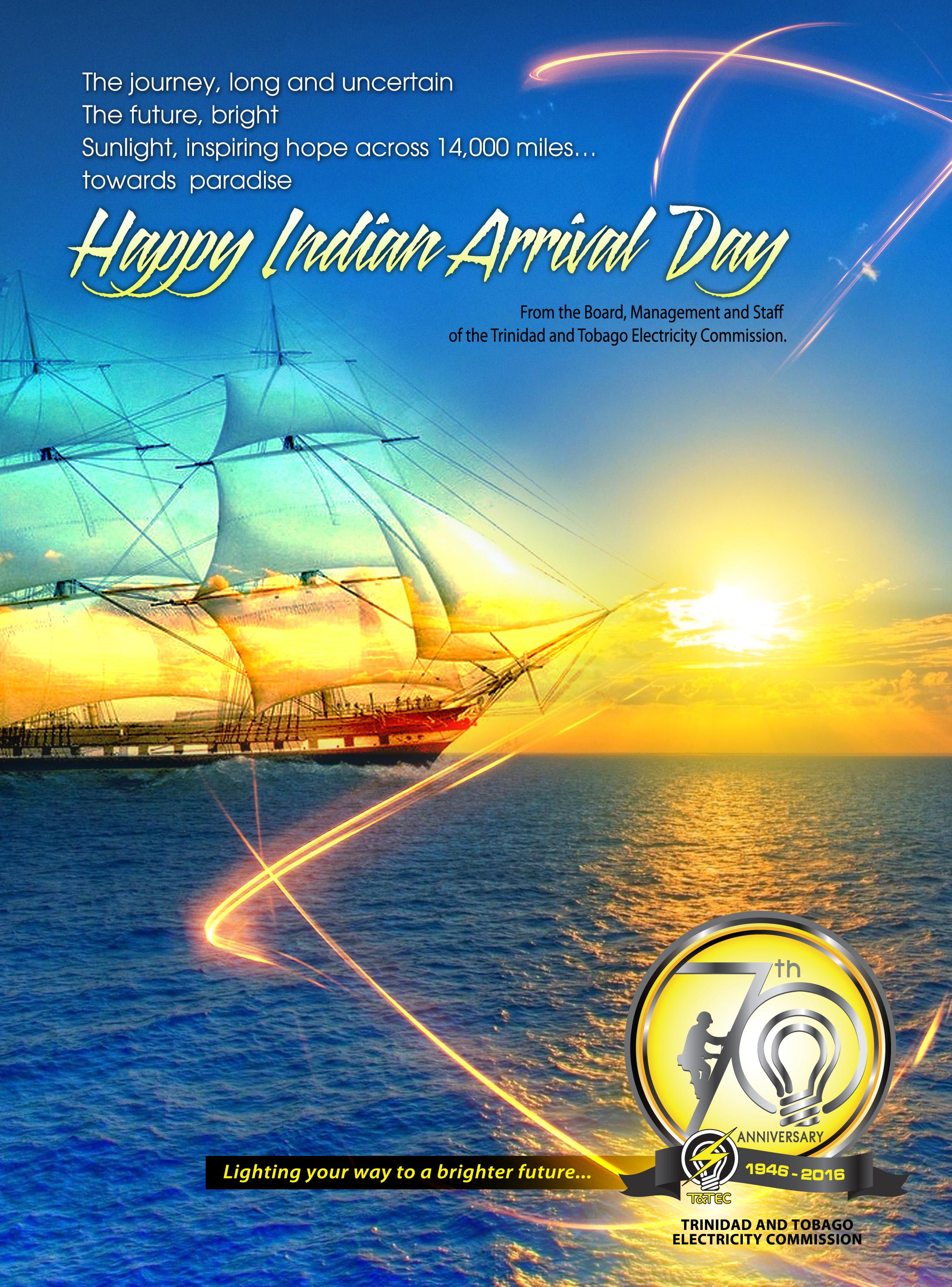 Happy Indian Arrival Day Trinidad And Tobago Electricity