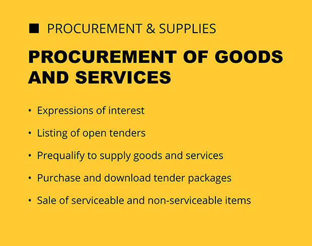 Procurement of goods and services.